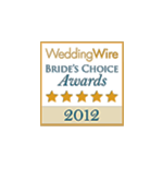 Wedding Wire Brides Choice Awards Winner 2012